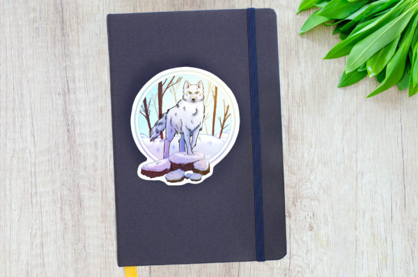 Stickers Loup Hiver